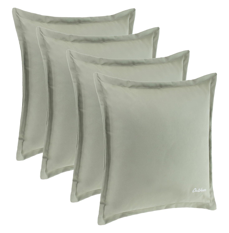 Fermeture /éclair de 2 cm R/ésistance /à la salet/é et /à leau 350 gDimensions/:48/x 48 cm 2er-Vorteilspack Rot Coussin dext/érieur