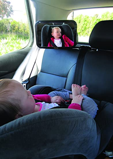 Baby Car Mirror   View of Back Seat Rear facing Infant   Registry or Baby Gift