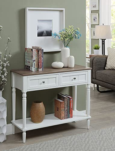 Convenience Concepts French Country Hall Table, Driftwood White