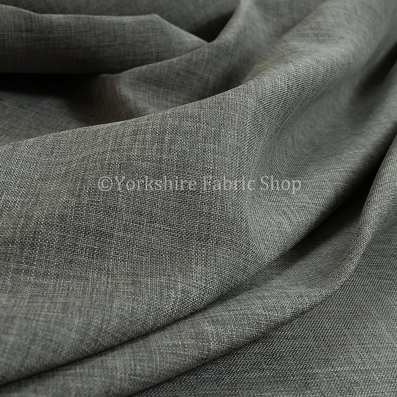 New Herringbone Plain Chenille Hardwearing Quality Silver Upholstery Fabric