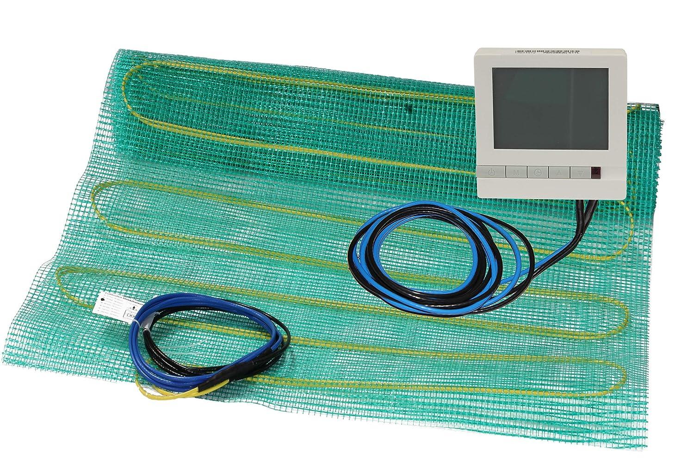 Digitalen Raumthermostat Elektrische Fu/ßbodenheizung F/ühler Verl/ängerung Heizmatte 3 m/² Komplett Set