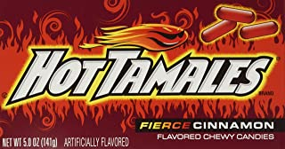 product image for Hot Tamales, Fierce Cinnamon Chewy Candy, Theater Box Style, 5oz Box (Pack of 6)