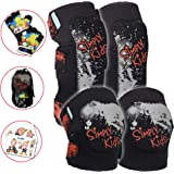 Innovative Soft Kids Knee and Elbow Pads with Bike Gloves   Toddler Protective Gear Set w/Mesh Bag& Sticker   Comfortable& Flexible   Roller-Skating, Skateboard, Bike Knee Pads for Children Boys Girls