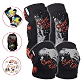 Innovative Soft Kids Knee and Elbow Pads with Bike Gloves | Toddler Protective Gear Set w/Mesh Bag& Sticker | CSPC Certified& Comfort | Roller-Skating, Skateboard Knee Pads for Kids Child Boys Girls