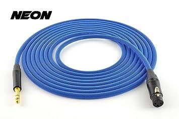 Cable para micrófono y sonido balanceado 3, 5, 7´5, 10,
