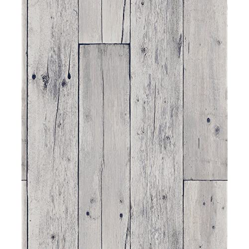 Blooming Wall Faux Wooden Planks Wood Panel Wallpaper Mural208 In328