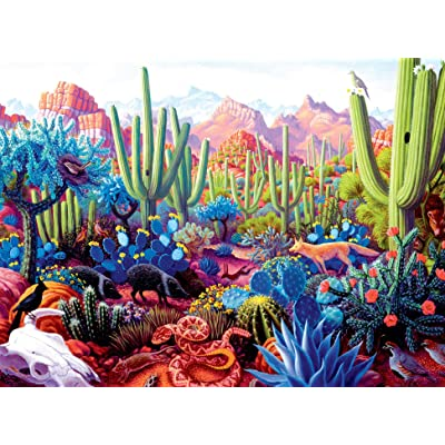 1000 Piece Puzzle for Adults - Cactus Critters Jigsaw Puzzle: Toys & Games
