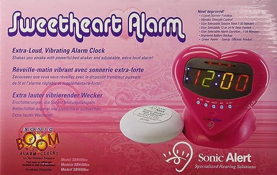 Amazon.com: Sonic Alert SBH400ss Sweetheart Alarm Clock With Bed Shaker:  Home U0026 Kitchen