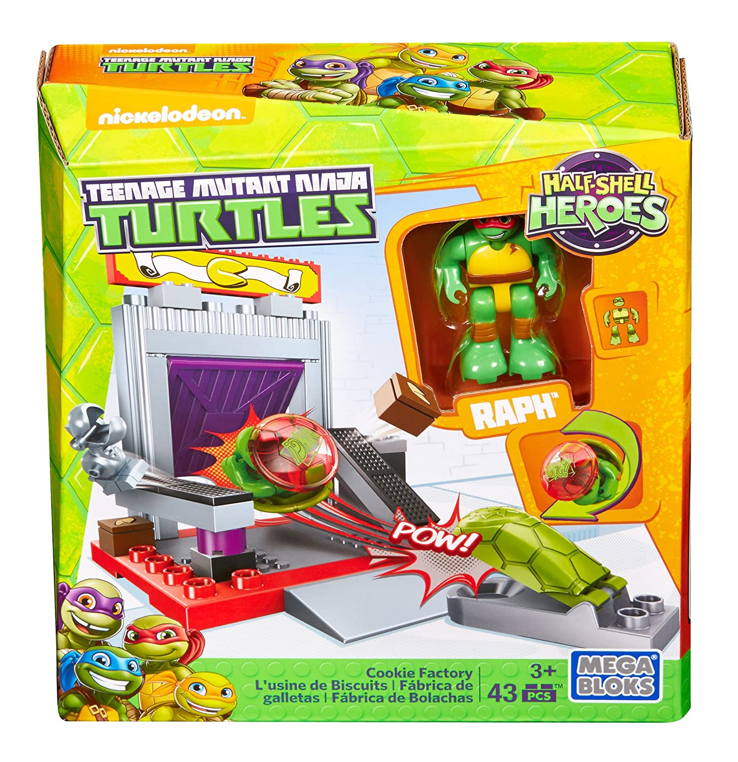 Mega Construx Teenage Mutant Ninja Turtles Half-Shell Heroes Cookie Factory Battle