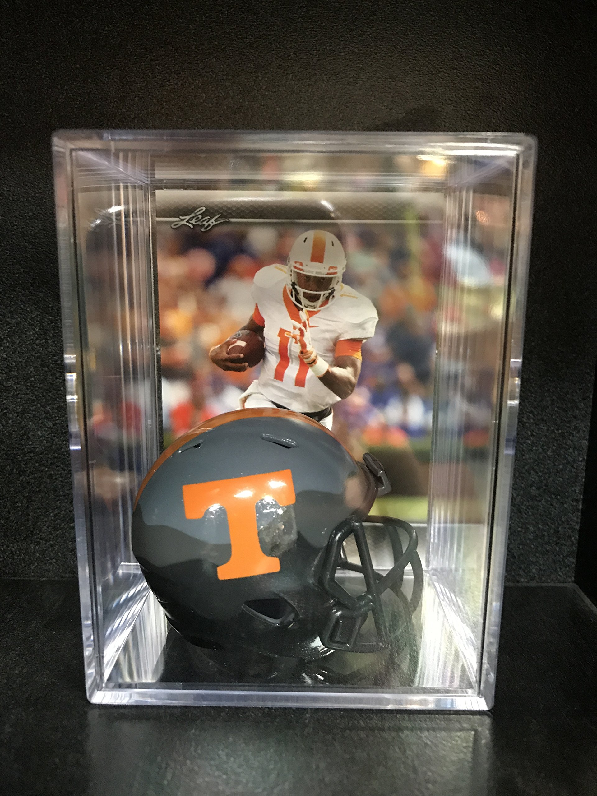Tennessee Volunteers NCAA Smokey Gray Helmet Shadowbox w/ Joshua Dobbs card