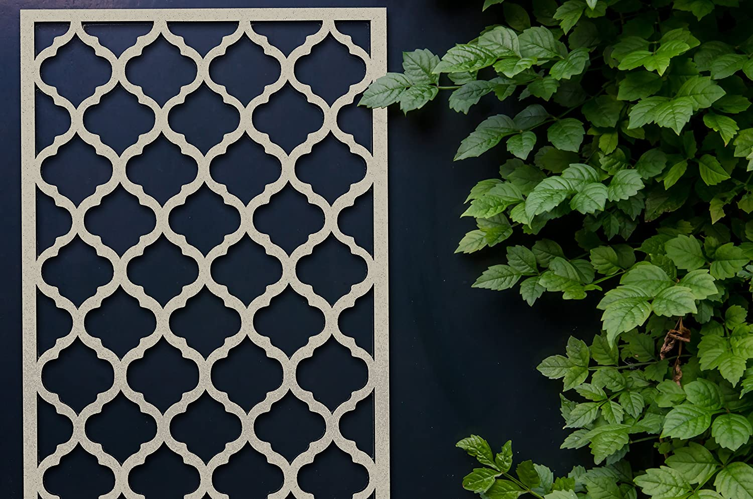 Decorative Trellis Panel Screen With Envy Shatter Garden Privacy Screen Black 1200mm x 600mm x 16mm