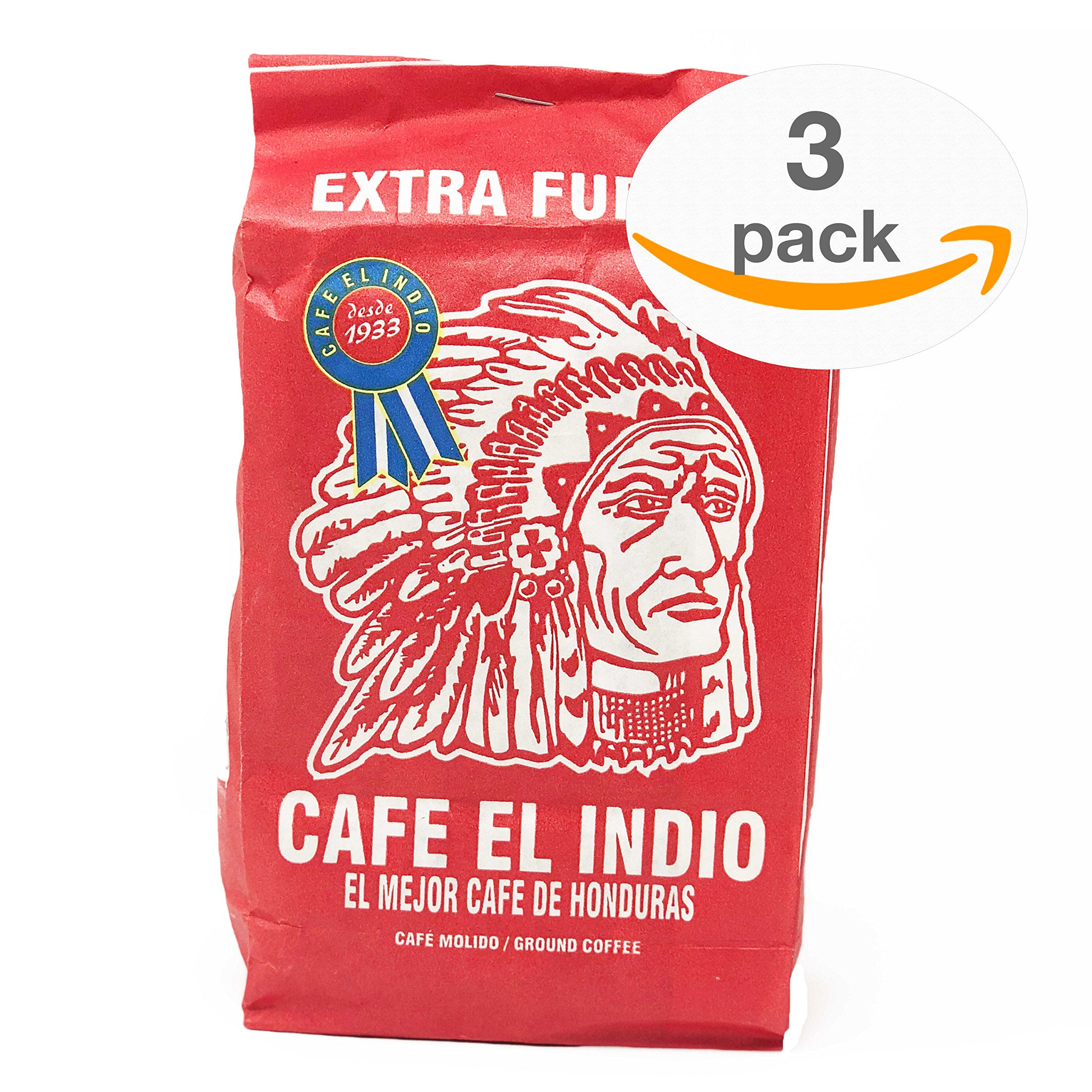 Cafe Molido - Coffee El Indio Extra Fuerte   Ground Strong Coffee From Honduras   16 individual bags total of 1 ounce each   Guaranteed Best Coffee 100% Customer Satisfaction