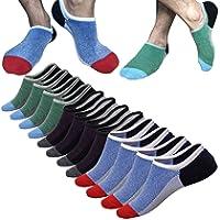 No Show Socks Men Mens Ankle Low Cut Socks Casual Mesh Knit Ventilation Fresh Super Comfy Cotton Non-Slip Socks 6 Pairs