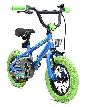 BIKESTAR Bicicleta Infantil para niños y niñas BMX | Bici 12 Pulgadas | Color Azul |