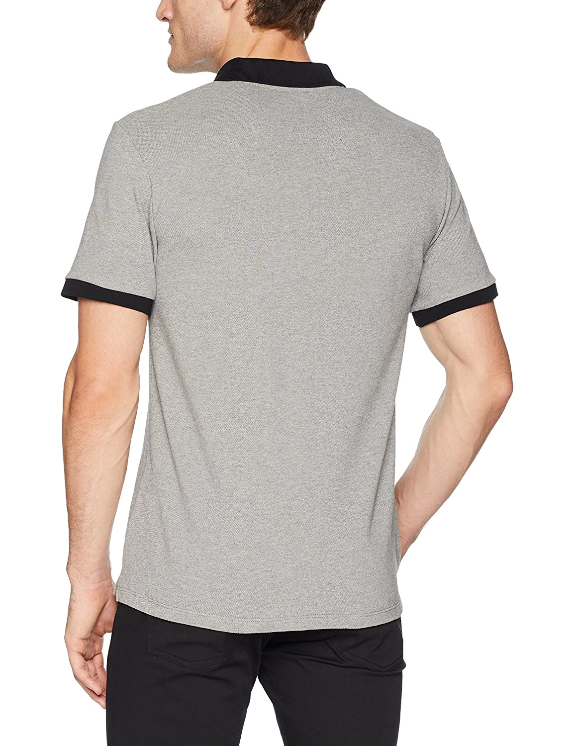 The Kooples Mens Mens Pique Polo Shirt with Contrasting Collar and Skull Patch The Kooples Men/'s HPOC17007K