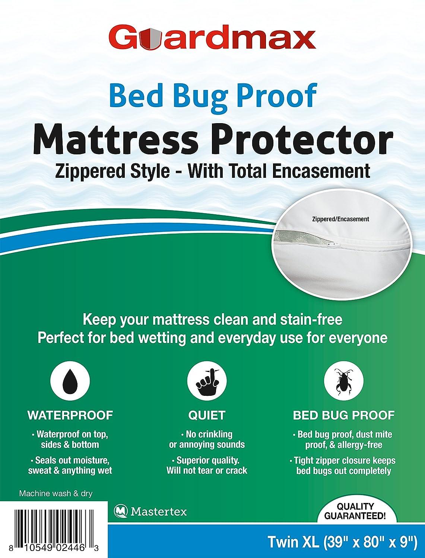 Baby proof queen bed - Amazon Com Guardmax Bedbug Proof Waterproof Mattress Protector Cover Zippered Style Quiet Queen Size 60 X80 X11 Home Kitchen