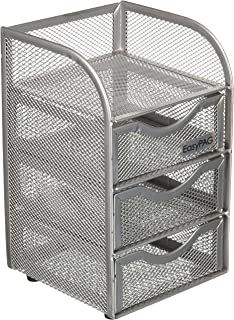 Peachy Amazon Com Silver Wire Mesh Metal Office Desktop Organizer Home Remodeling Inspirations Cosmcuboardxyz
