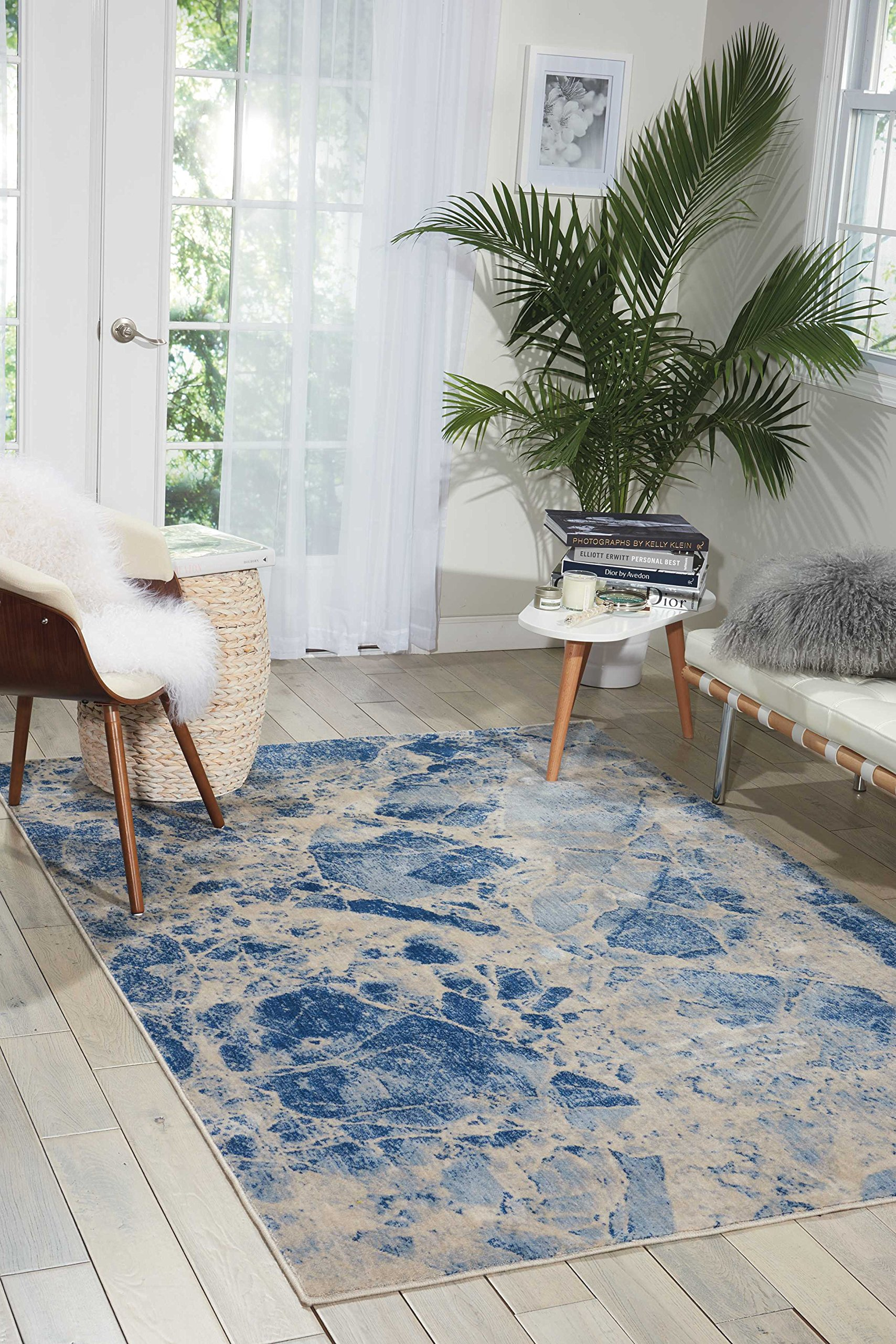 Nourison Somerset ST745 Modern Bohemian Blue Area Rug 3 Feet 6 Inches 5 Feet 6 Inches,3'6'' x 5'6''
