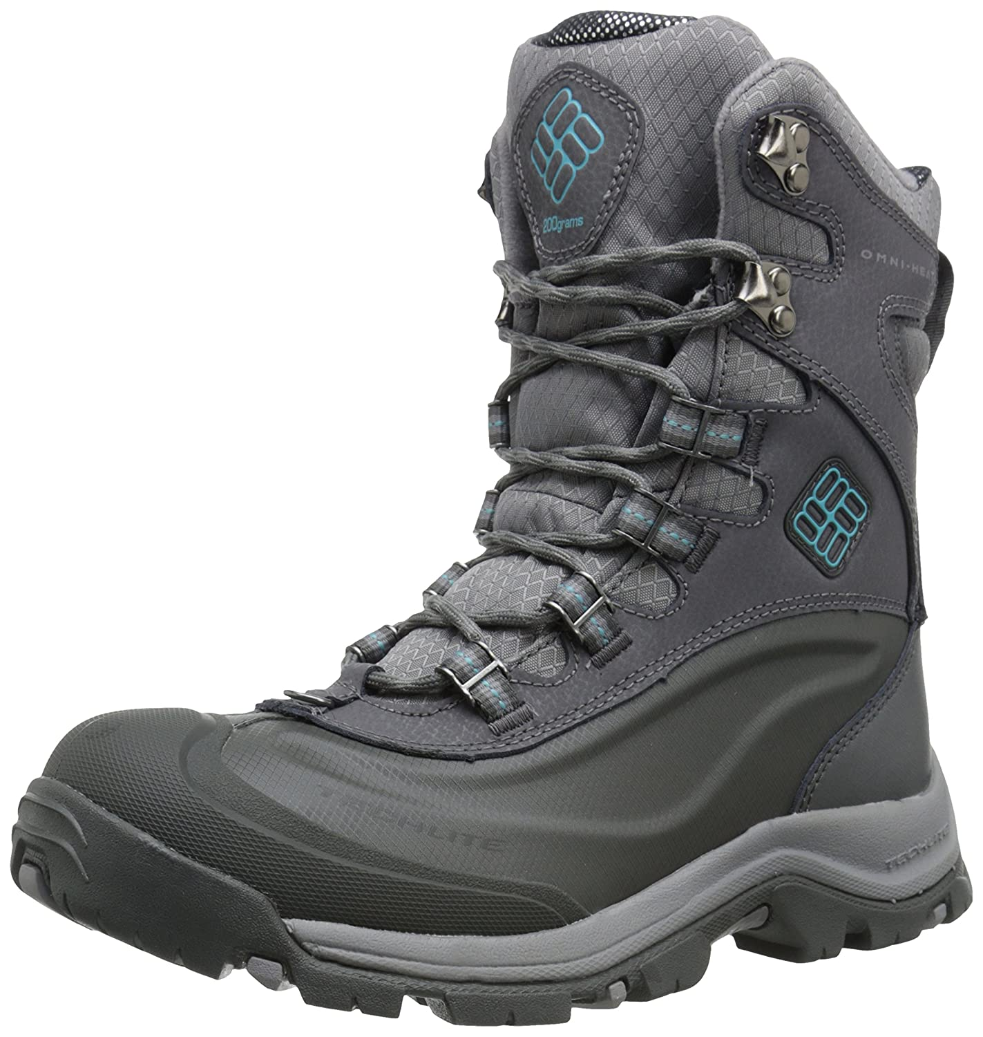Columbia Women's Buga Plus III Omni Heat Boot B00Q7WNVO2 6 B(M) US|Shale/Aqua
