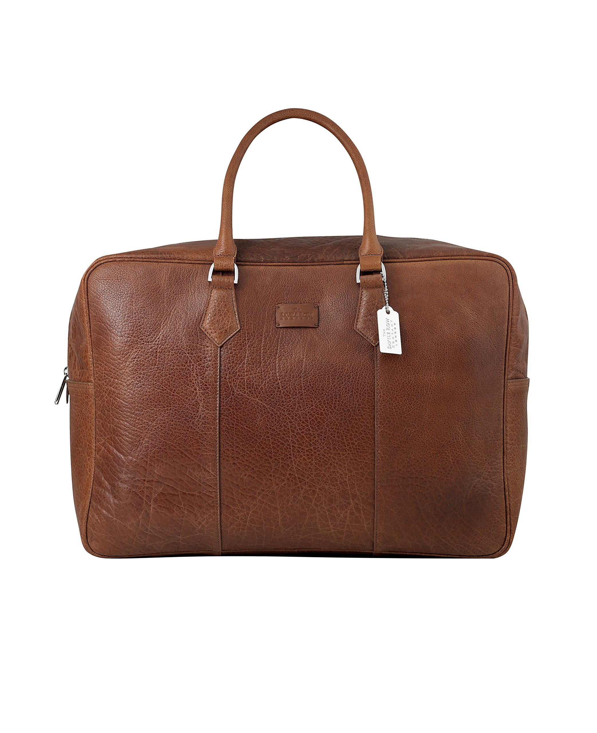 Savile Row Men's Tan Leather Holdall by The Savile Row Company