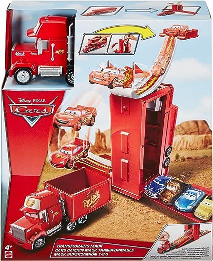 Amazon Com Disney Pixar Cars Transforming Mack Playset Toys Games