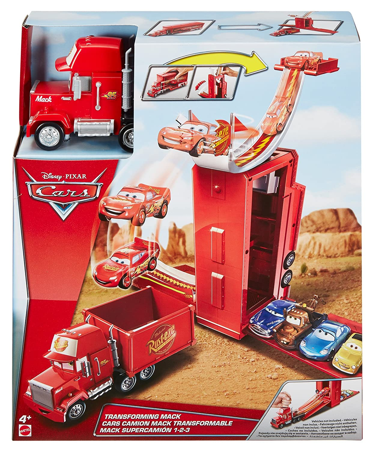Disney/Pixar Cars Transforming Mack Transporter Fisher Price / Mattel Canada DVF39