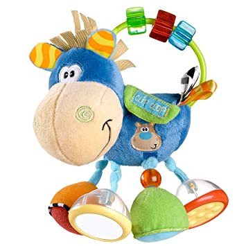 Playgro 0101145 - Mordedor, forma de vaca Clip Clop