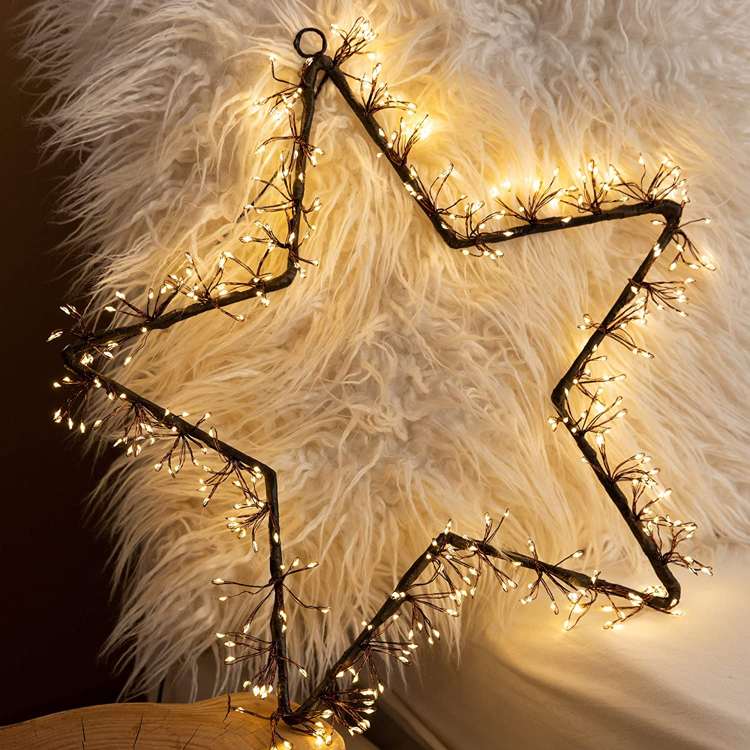 MAISON HUIS Star String Lights, 350 LED 5-Star Hanging Fairy Lights for Outdoor Indoor Bedroom Wall Decor for Wedding Party Holiday Christmas Home Decorations