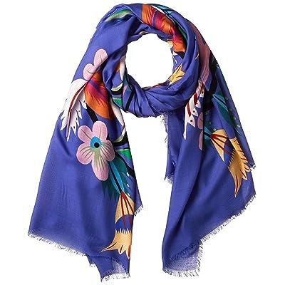 Desigual - Fular - para mujer Azul azul Talla única: Ropa y accesorios