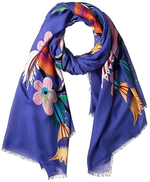 3455e0c9747ac Desigual - Fular - para mujer Azul azul Talla única  Amazon.es  Ropa y  accesorios