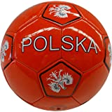 Poland Polska Red With Eagle Country Flag FIFA World Cup Soccer Ball Size 5.. New