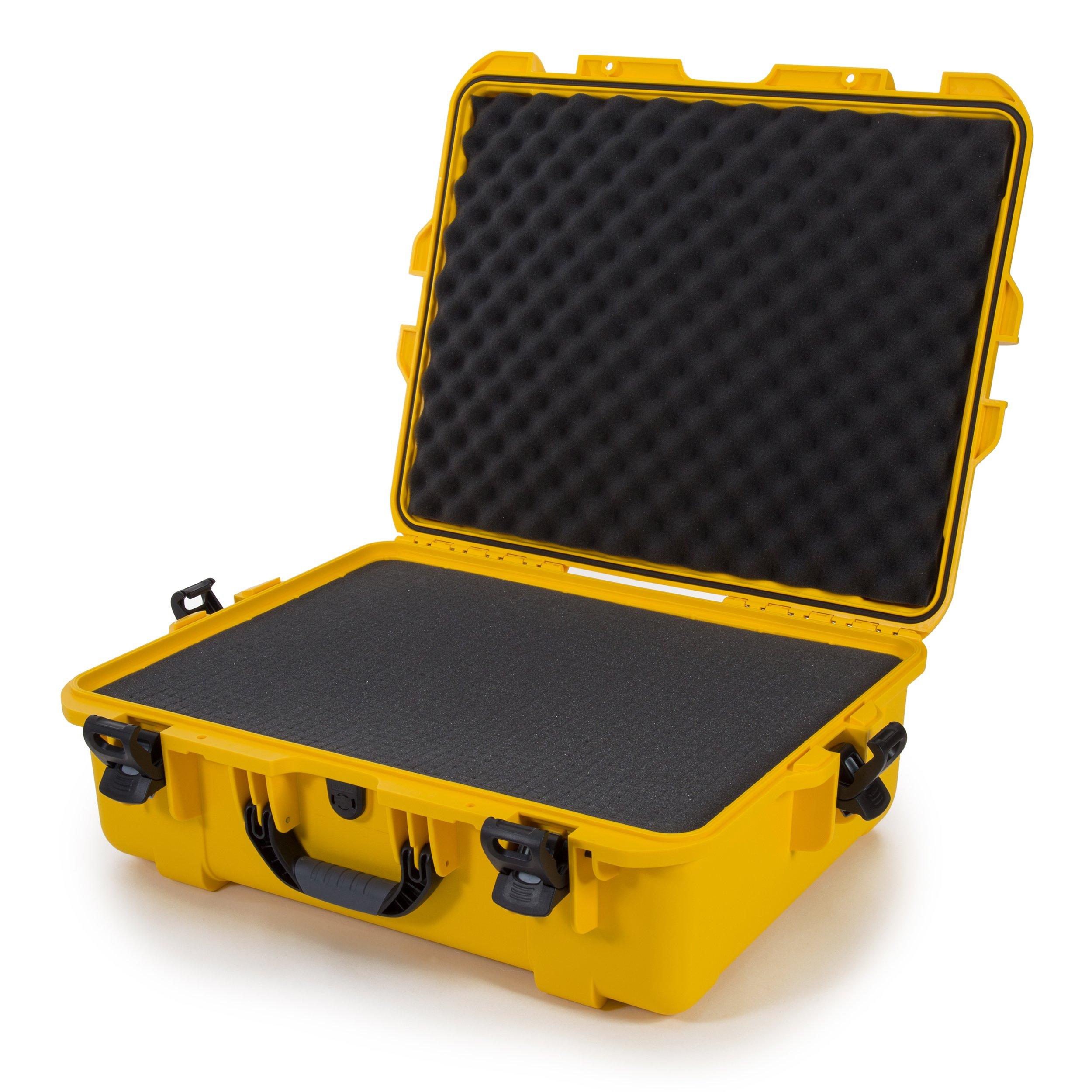 Nanuk 945 Waterproof Hard Case with Foam Insert - Yellow - Made in Canada