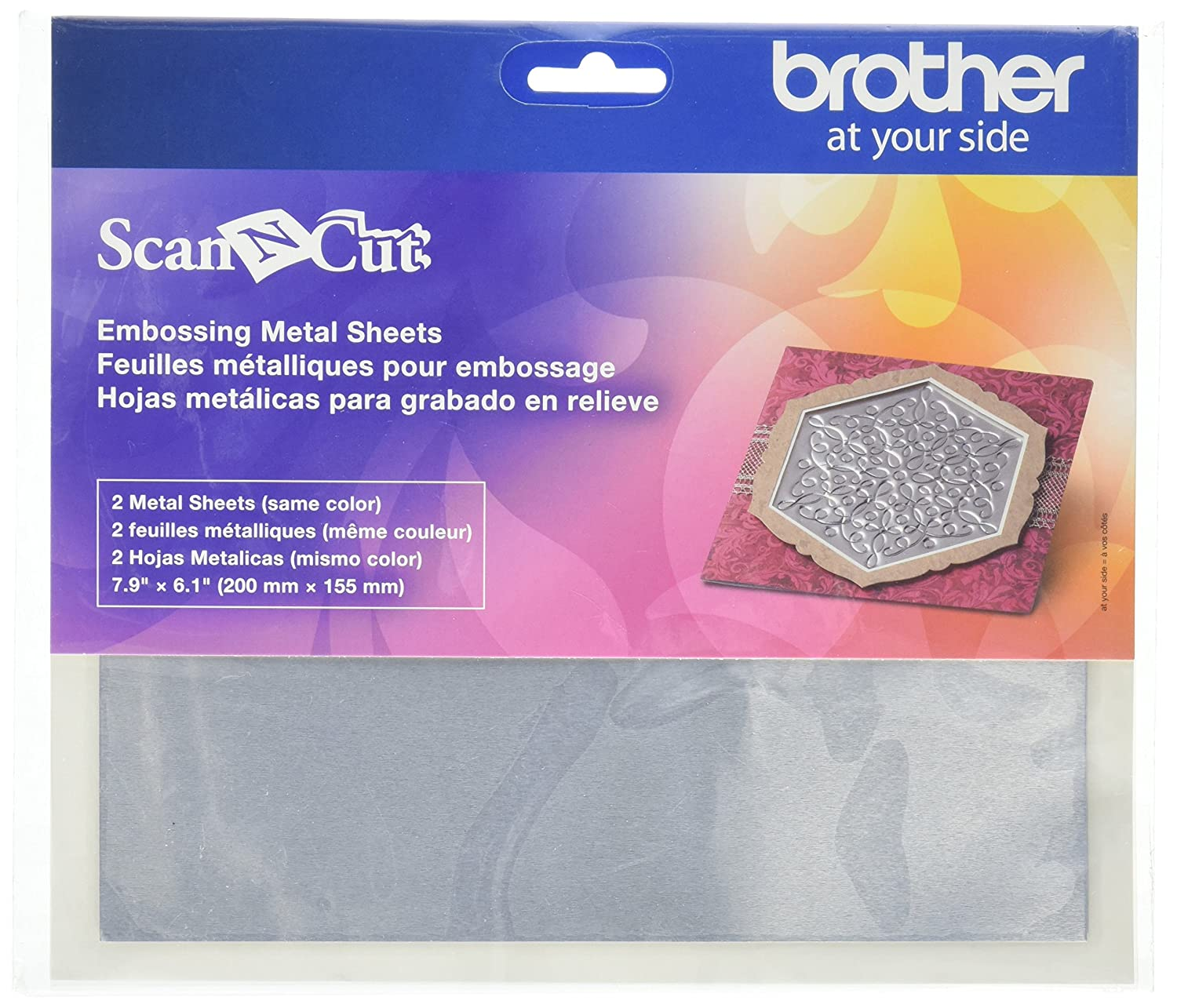 Brother Sewing CAEBSBMS1 Embossing Brass Metal Sheets Brother International