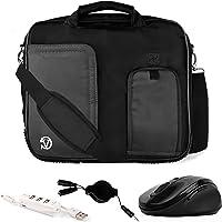 "Vangoddy Pindar Black Trim Laptop Bag w/Accessories for Samsung ChromeBook/Galaxy Book/Galaxy Tab/Notebook M 10""-12inch"
