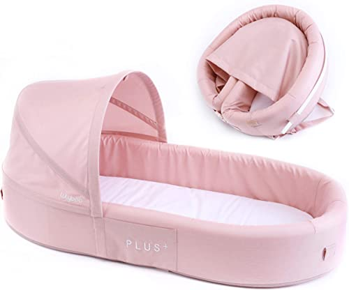 Lulyboo Bassinet Plus Infant to Toddler Portable Travel Bed Blush
