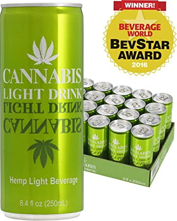 Cannabis Energy Drink, Light (Sugar Free), 8.4 Fl Oz Cans, 24 Pictures
