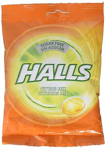 Halls Caramelos sin Azúcar con vitamina C, Sabores Cítricos - 100 g
