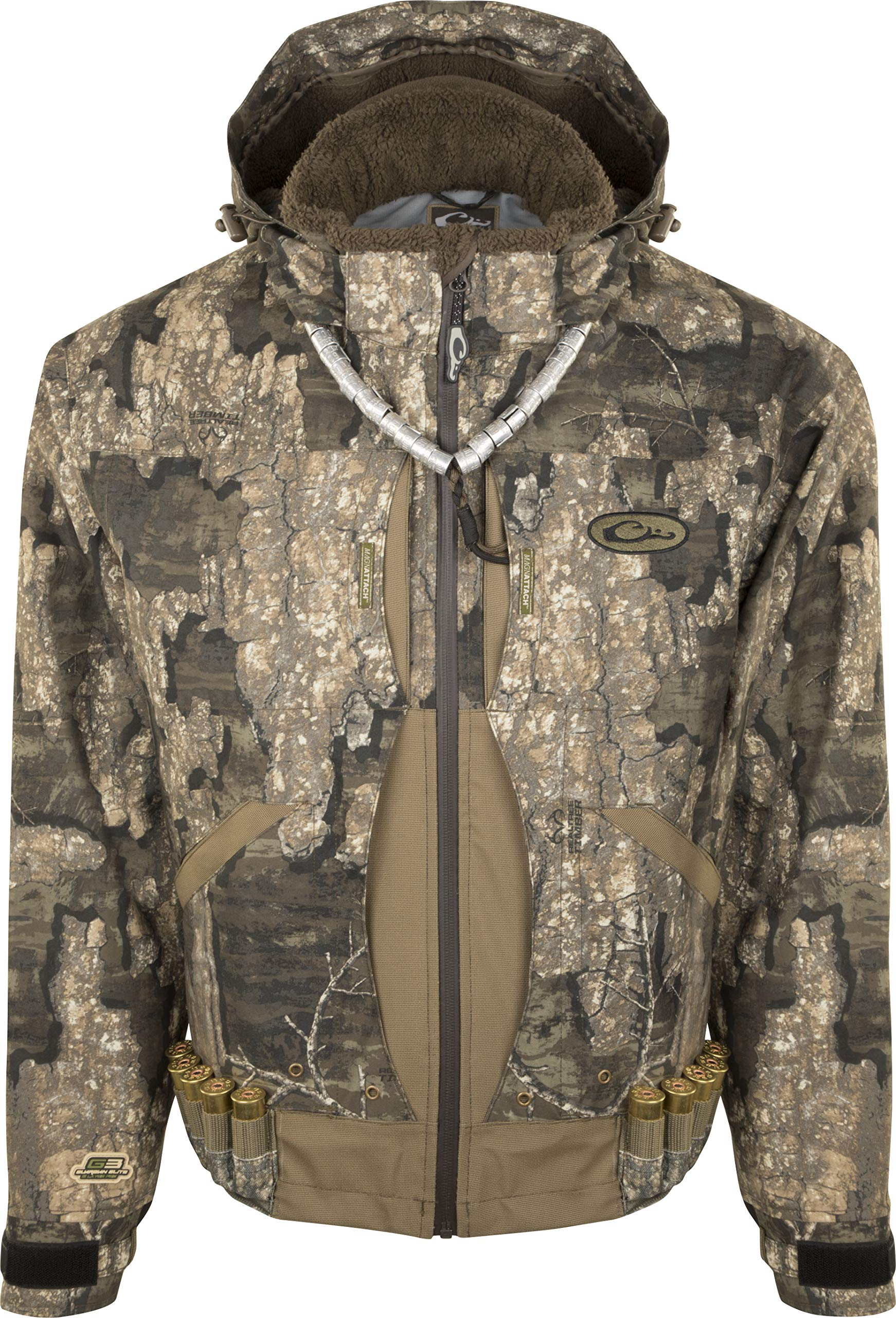 Drake Guardian Elite Flooded Timber Jacket - Insulated Realtree Timber SM