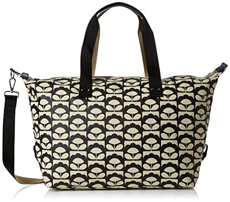 Womens Zip Holdall Travel Totes Luggage, Black (Charcoal), 44x38x21 cm (W x H x L) Orla Kiely