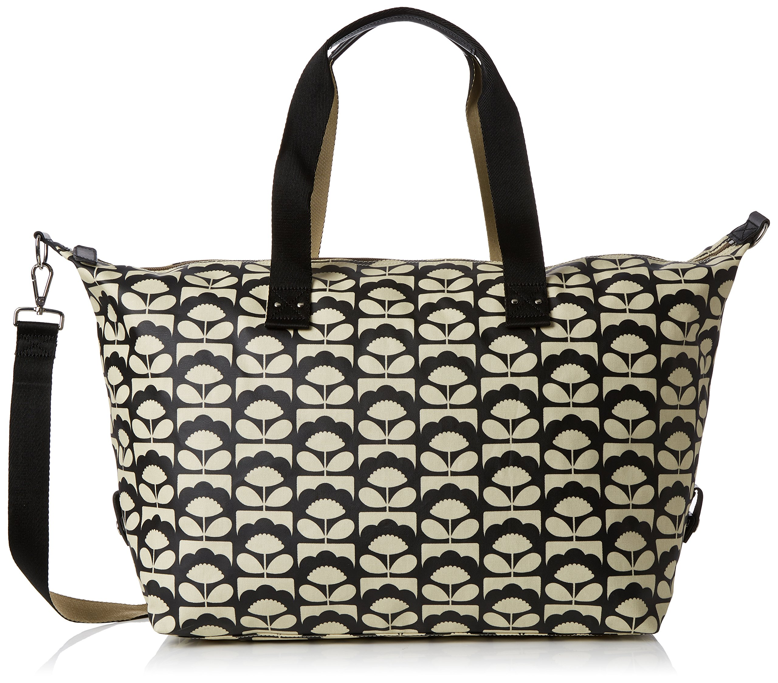 Orla Kiely Women's Spring Bloom Zip Holdall, Charcoal