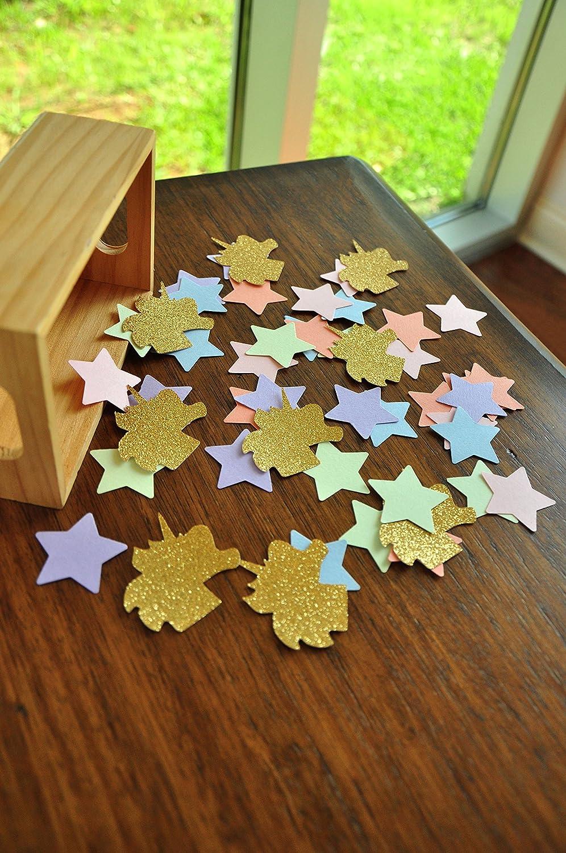 Unicorn Table Decorations Star Confetti Rainbow Pastel Unicorn Party 50CT. 2 packs