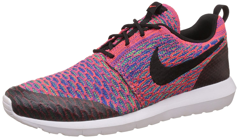Nike Roshe NM Flyknit SE, Zapatillas de Running para Hombre 42 EU|Naranja / Negro / Gris (Brght Crmsn / Blk-grn Strk-gm Ry)