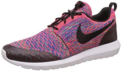 best authentic 243d8 ca7ee Nike Men s Roshe NM Flyknit SE Running Shoe Brght Crmsn Blk Grn Strk