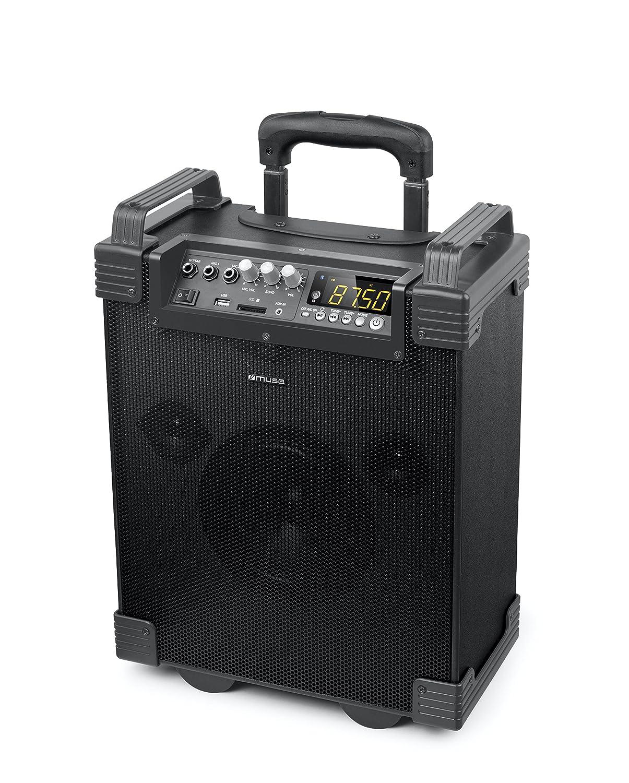TALLA 1 Mikrofon. Muse M-1910T - Altavoz Maleta, Color Negro