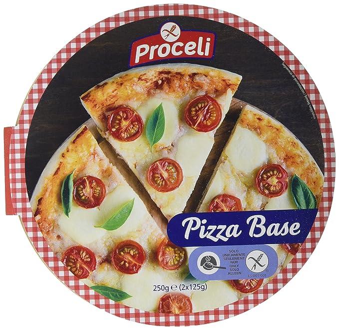 Proceli Base Pizza Sin Gluten - Paquete de 2 x 125 gr - Total: 250 ...