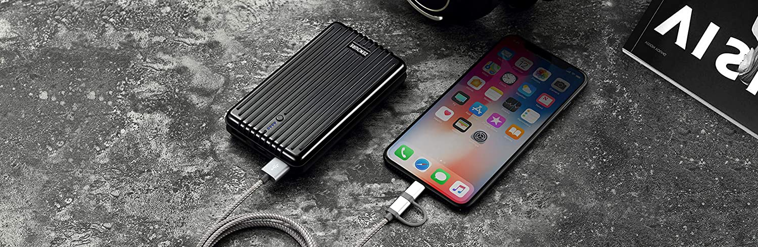 iPad PC Advisor Winner 2014-2018 Ultra-Durable Power Bank Pass-Through Charging External Battery Pack for iPhone Samsung Galaxy and More Zendure A5PD Portable Phone Charger 16750mAh Black
