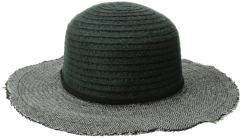 San Diego Hat CompanyレディースChenilleクラウンwithフロッピー帽子 One Size ブラック B00V00IYL6