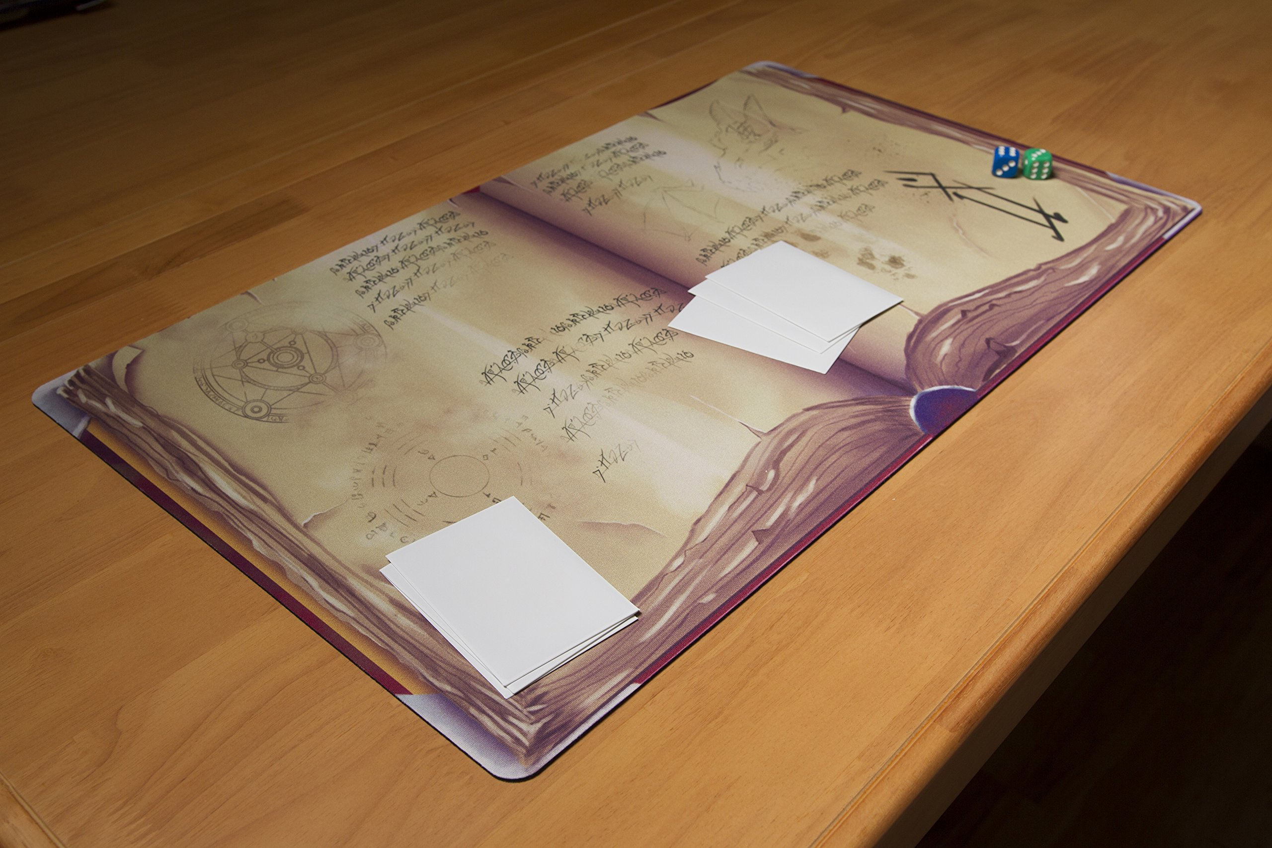 Inked Playmats Spellbook Card Playmat Inked Gaming Perfect for MTG Pokemon Hearthstone & YuGiOh Magic The Gathering TCG Game Mat by Inked Playmats (Image #5)