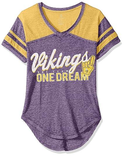 6aa710ba NFL Juniors Junior Girls Vintage Short Sleeve Football Tee Minnesota Vikings