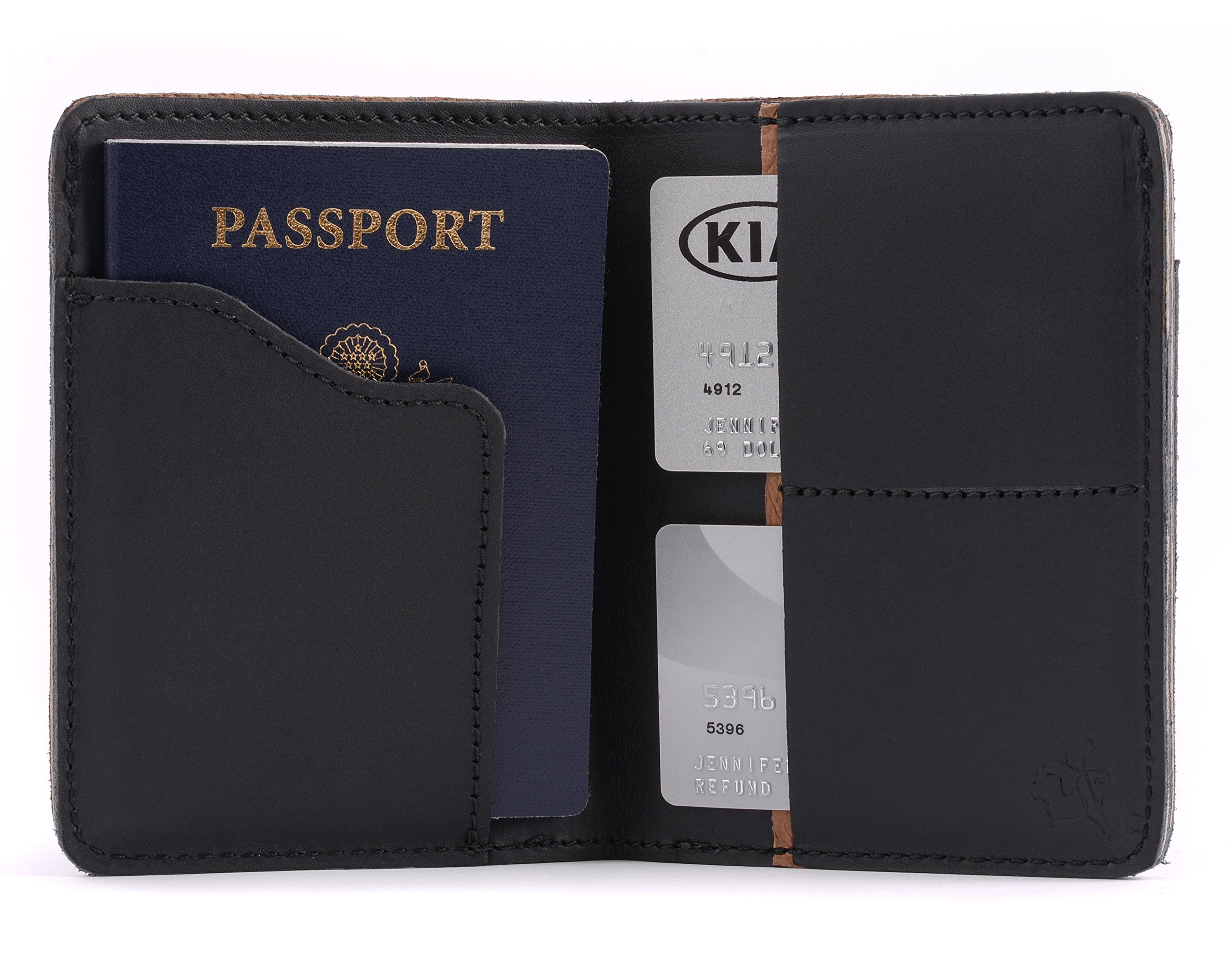 Saddleback Leather Co. RFID US Passport Holder Family Passport Wallet Includes 100 Year Warranty by Saddleback Leather Co. (Image #1)
